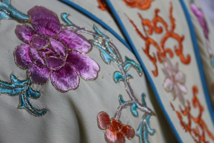 Hand embroidered Chinese